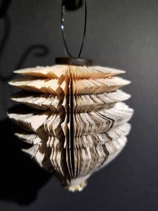 Christmas Ornaments From Old Books Recycling Paper & Books