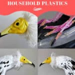 Egyptian Vulture From Recycled Household Plastics