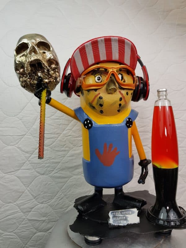 Handmade Minion Figurines Recycled Art Recycling Metal