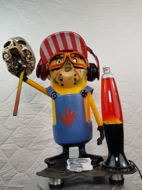 Handmade Minion Figurines Recycled Art Recycling Metal