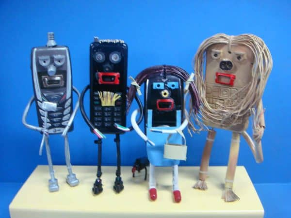 Wizard of Oz: Sculptures from Recycled Cell Phones Recycled Art Recycled Electronic Waste