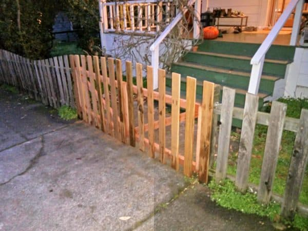 Recycled Fence From Discarded Fence Boards Garden Ideas Wood & Organic