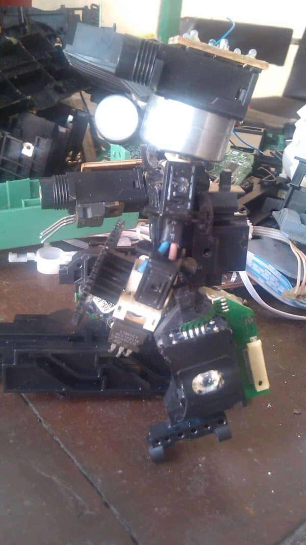 The Optic Reader Robot Recycled Art Recycled Electronic Waste