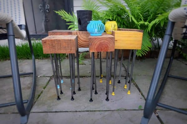 Pallet Wood Modular Patio Coffee Table Recycled Pallets