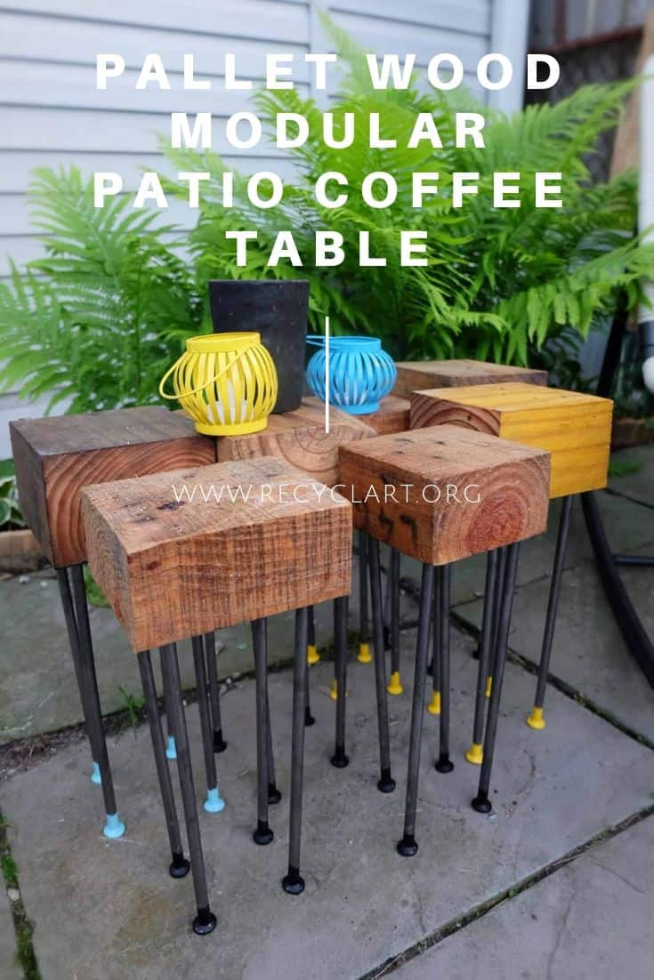 Picture of: Pallet Wood Modular Patio Coffee Table Recyclart