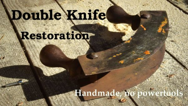 Rusty Mezzaluna Rescue - Antique Rusty Double Knife Restoration Diy video tutorials