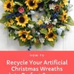 How to Recycle Your Artificial Christmas Wreaths into Perfect Summer Décor