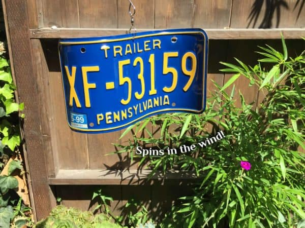 License Plate Wind Spinners Garden Ideas Recycling Metal