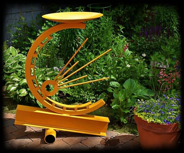 """Sunrise"" Garden Sculpture Recycling Metal"