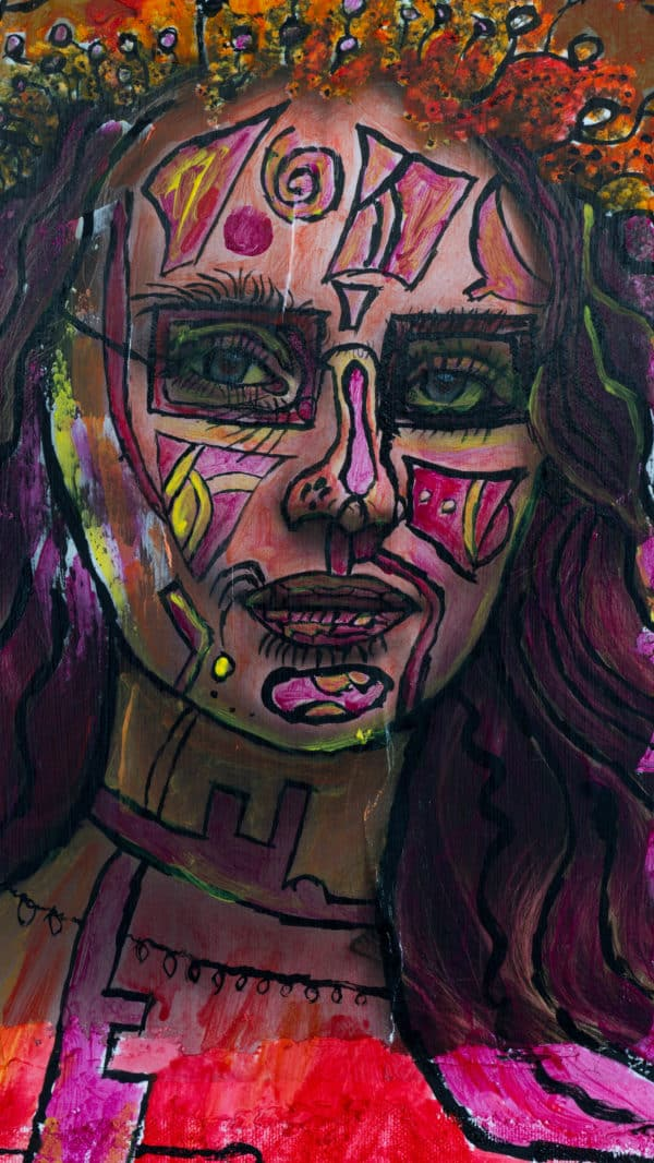 Painting on Recycled Photo Recycled Art