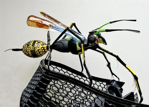 Recycled Plastic Wasp Sculpture Recycled Art
