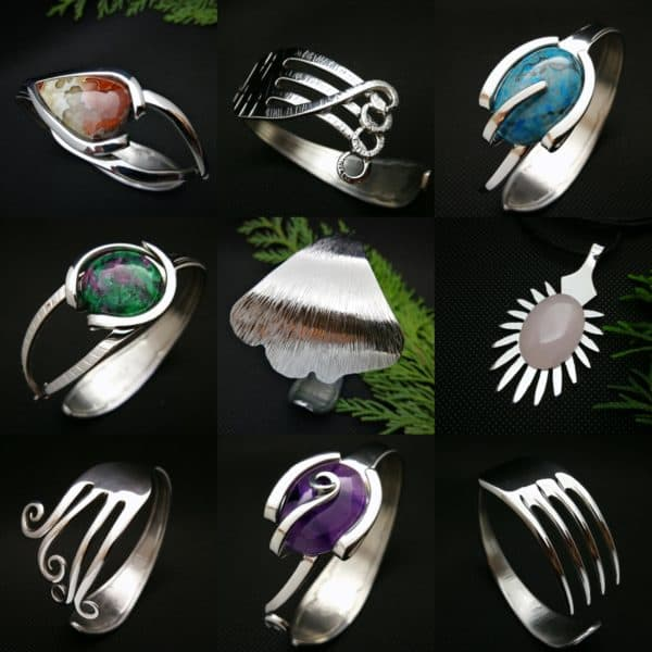 From Trash to Fashion, Upcycled Cutlery Into Jewels Recycling Metal Upcycled Jewelry Ideas