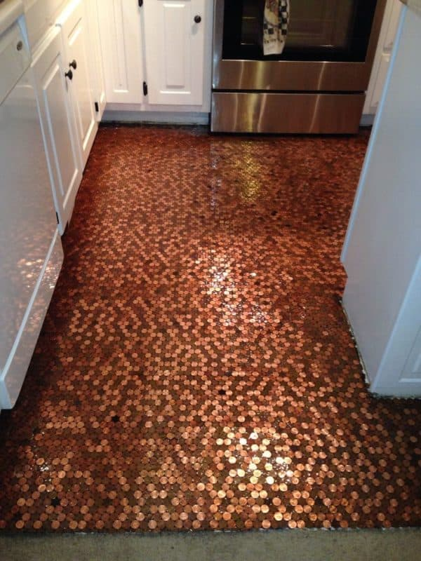 Diy: How to Make a Copper Penny Floor? Home Improvement