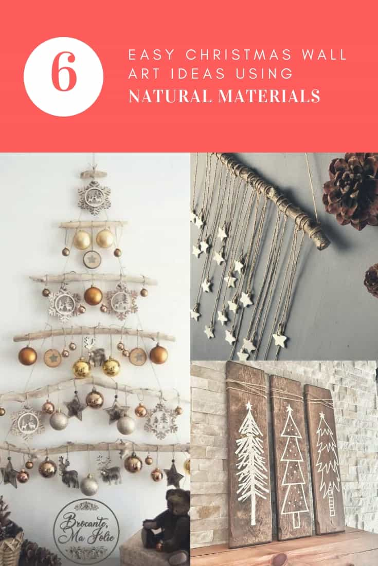Easy Christmas Wall Art Ideas Using Natural Materials