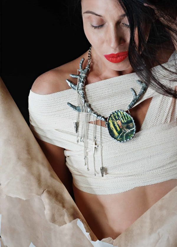 Frida Kahlo Recycled Necklaces Accessories Upcycled Jewelry Ideas