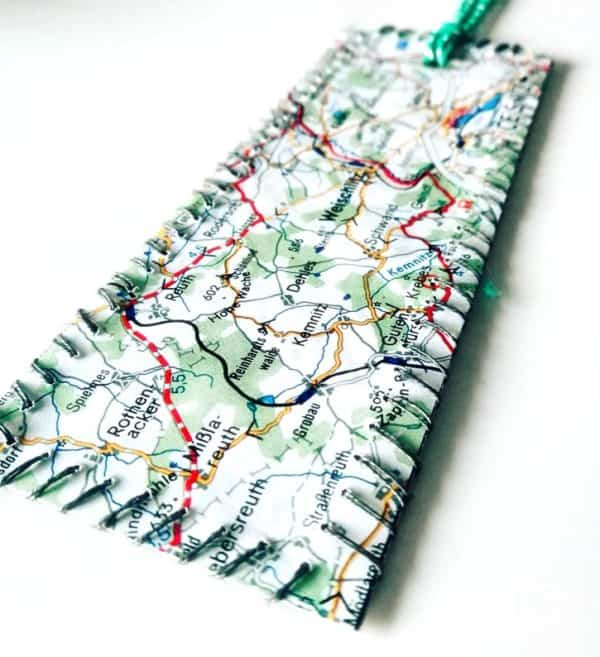 Upcycled Maps Into Bookmark Recycling Paper & Books
