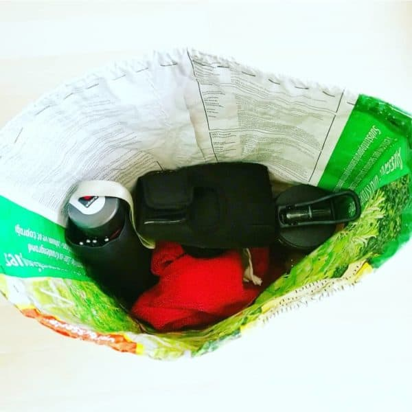 Upcycled Soil Bag Into Gym Bag Accessories