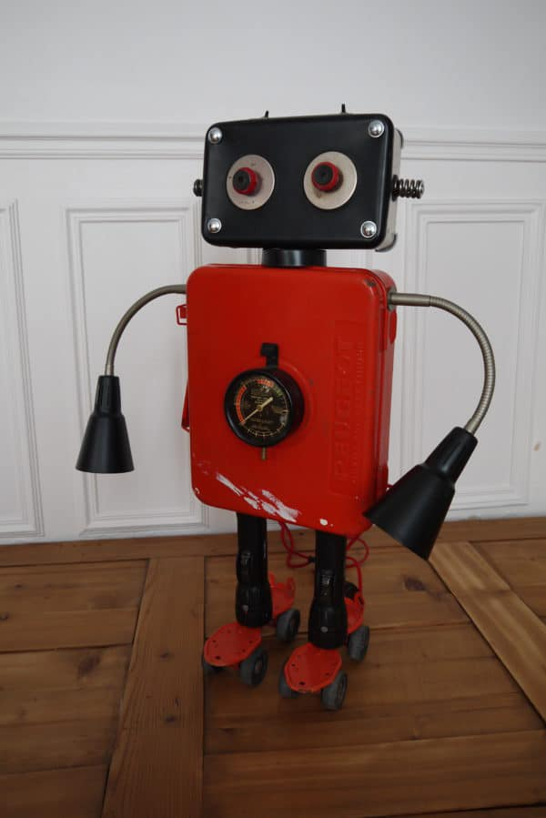 Upcycled Robot Maker Recycled Art Recycling Metal