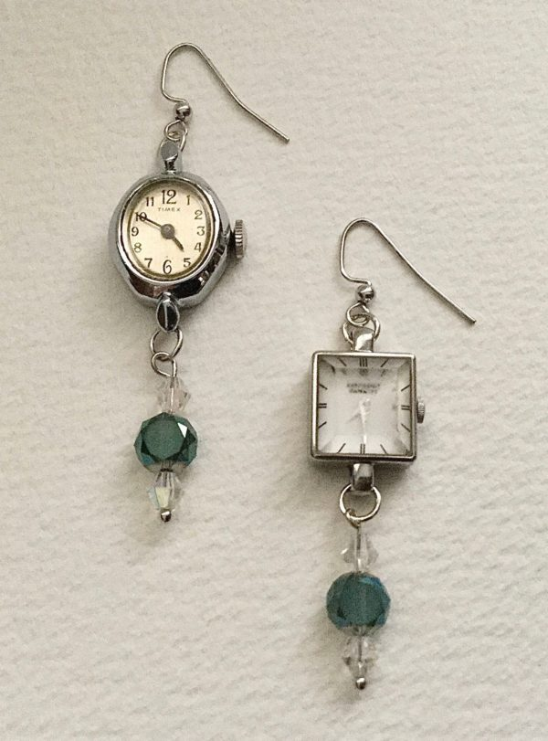 Upcycled Wrist Watch Earrings Upcycled Jewelry Ideas