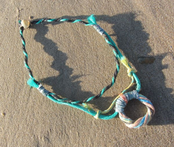 Recycled Fishing Rope Into Necklace Accessories