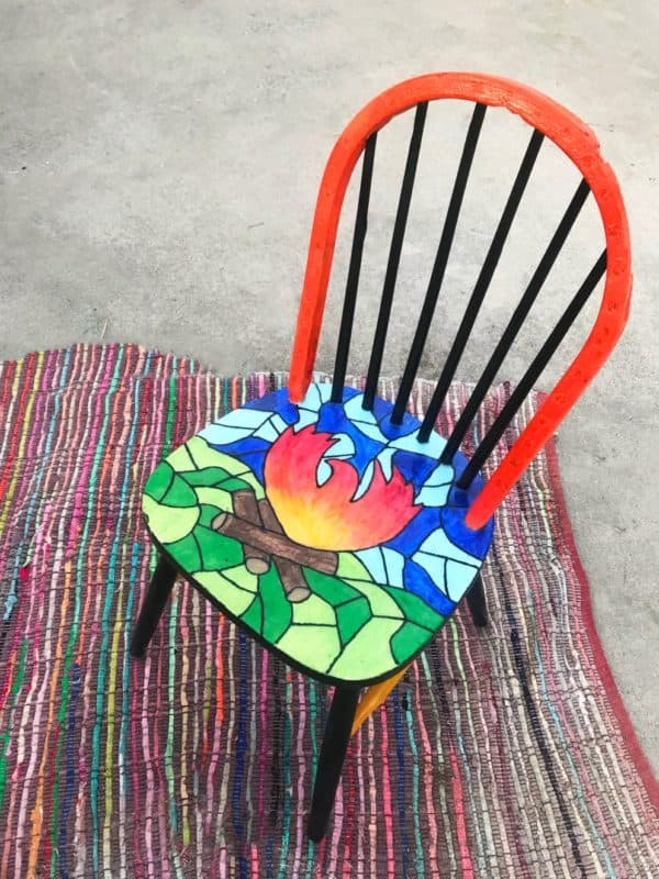 A Chair That Survived California's Camp Fire Gets New Life With a Colorful Makeover Recycled Furniture