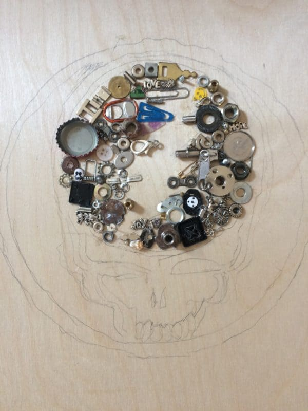 A Fitting Tribute: Canvas From Found Objects Recycled Art