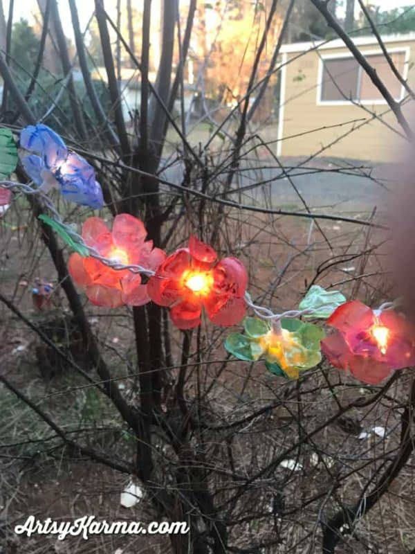 How to Make Flower Lights Out of Recycled Plastic Bottles Recycled Plastic