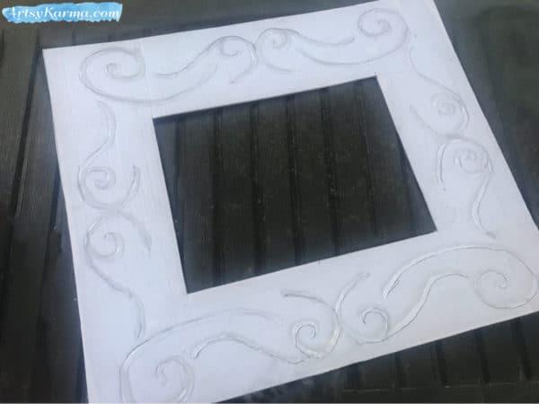 Easy DIY: Make a Decorative Framed Mirror Using Recycled Cardboard and a Glue Gun Recycled Cardboard