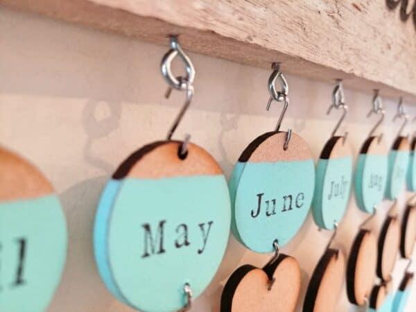 Cornish Driftwood Celebrations Calendar Wood & Organic