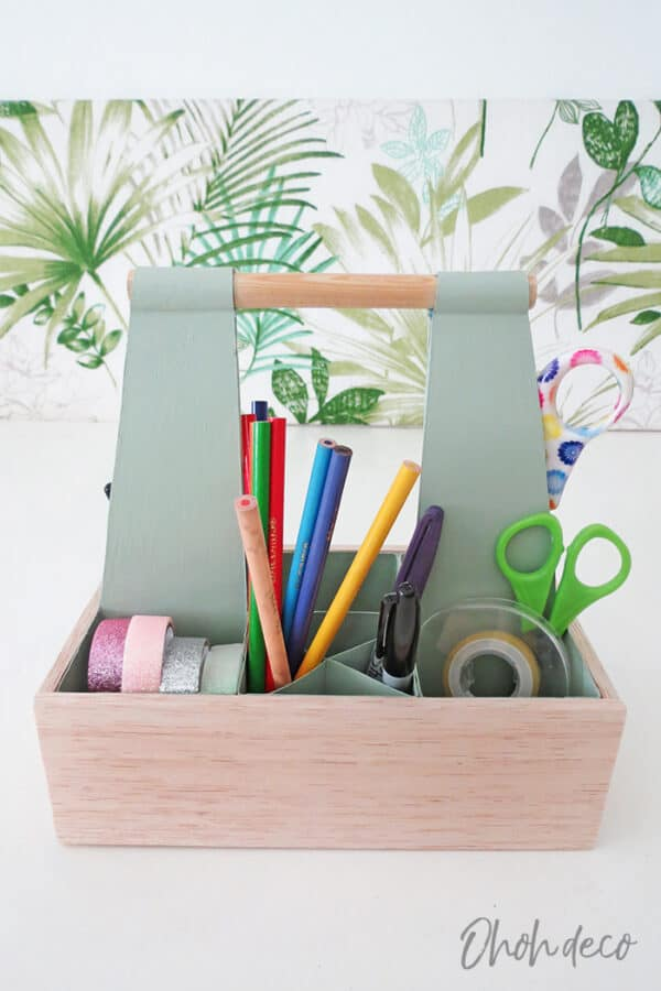 DIY: Desk Organizer Caddy Recycled Packaging