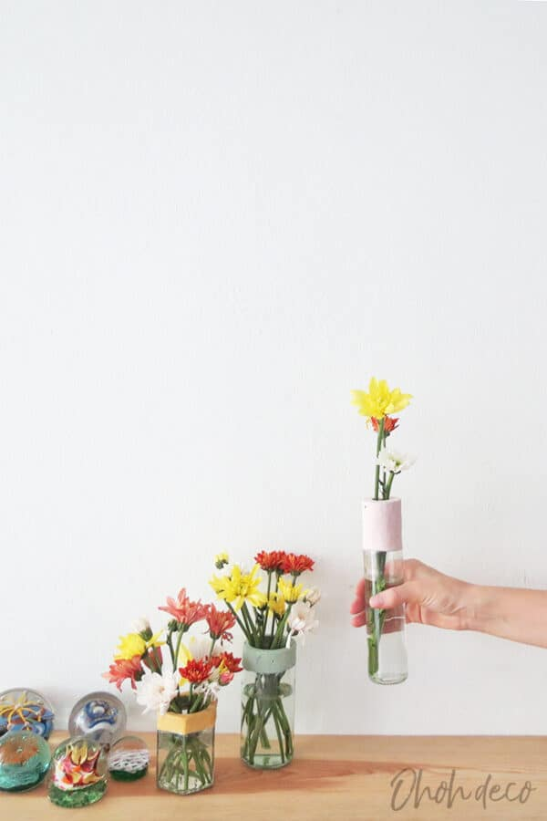 DIY: Glass Bottles & Jars Into Flower Vases Recycled Glass