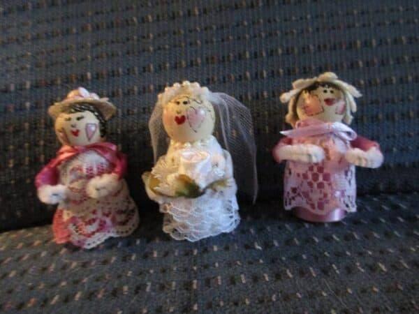 Mini Spool Dolls 19 • Wood & Organic