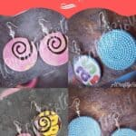 Recycled Cereal Box Earrings 9 • Recycled Cardboard