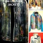 Displayable Wearable Art: Painting on Leather Jackets 5 • Clothing