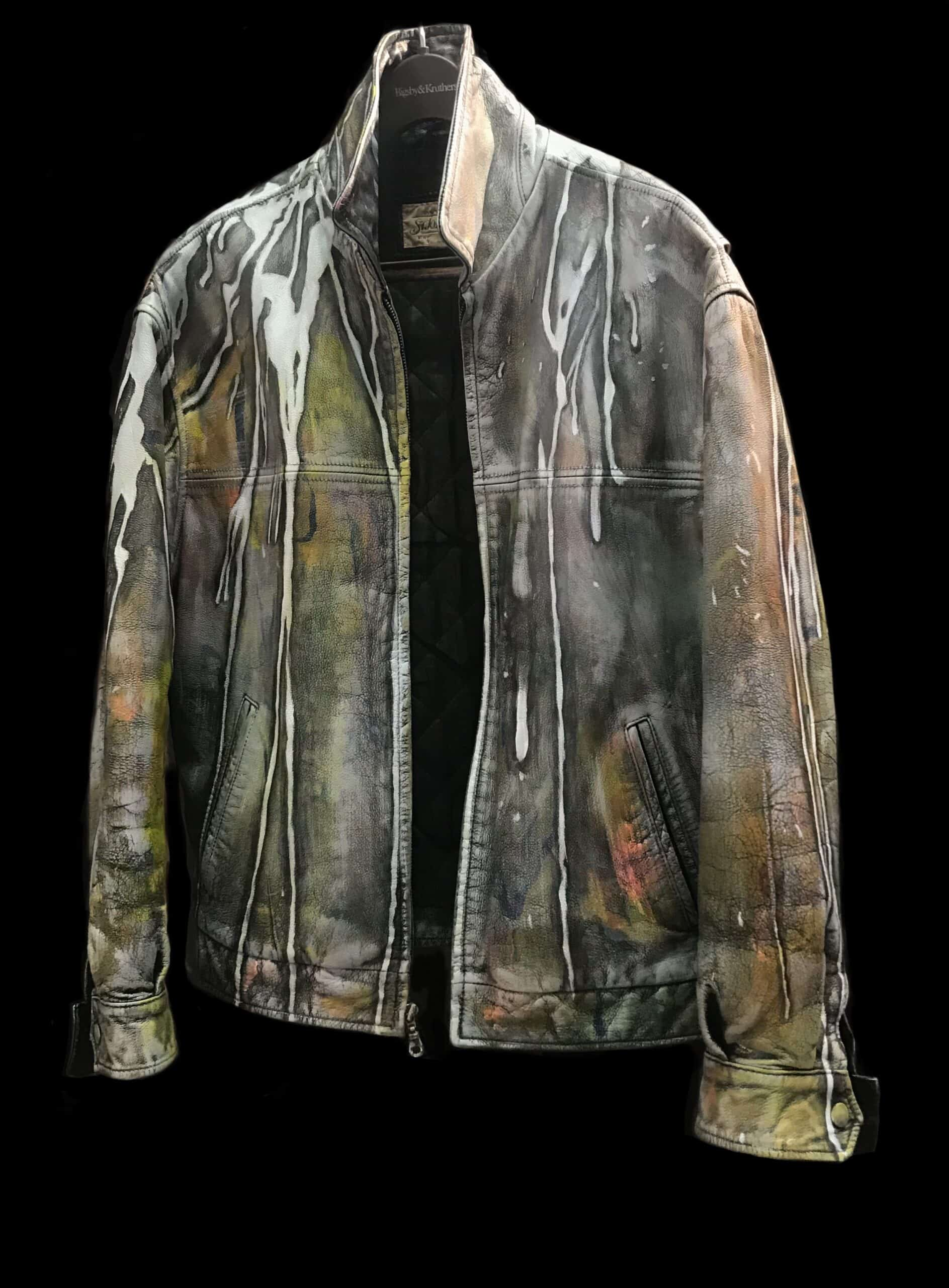 Displayable Wearable Art: Painting on Leather Jackets