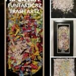"FunTasTickz Trash Artz ""Shredded Paper Art"" 1 • Recycled Art"