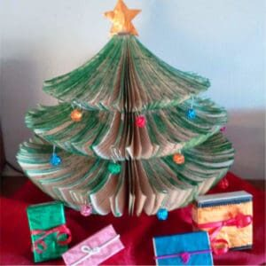 Upcycled-Book-Christmas-Tree