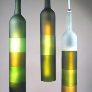 Jerry Kott - bottle lamps