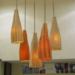 lampshades made from luffa