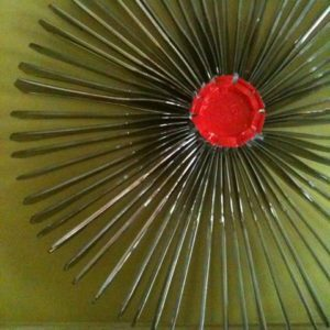 plastic knif wreath
