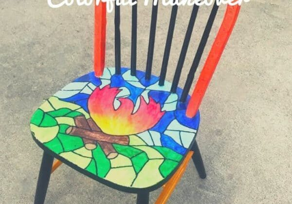 A Chair That Survived California's Camp Fire Gets New Life With a Colorful Makeover
