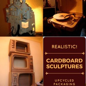 recyclart.org-amazing-realistic-cardboard-sculptures-imitate-life-01