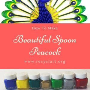 recyclart.org-diy-home-decor-how-to-make-beautiful-peacock-with-plastic-spoon-12