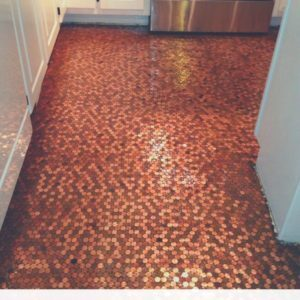 Diy- How to Make a Copper Penny Floor