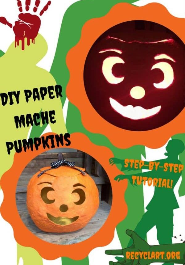 recyclart.org-diy-tutorial-paper-mache-jack-o-lantern-04
