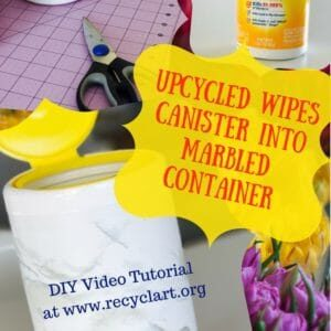 recyclart.org-diy-video-tutorial-marbled-disinfecting-wipes-bottle-07