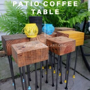 Pallet Wood Modular Patio Coffee Table