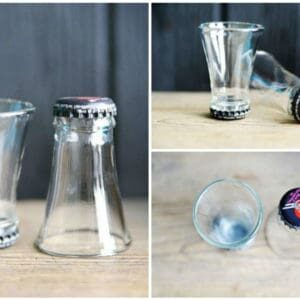 Shot glass from upcycled cutted bottles 1