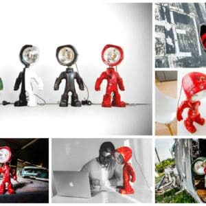 The Lampster: Little Robot Lights From Upcycled Vehicle Lamps 21