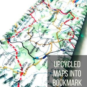 Upcycled Maps Into Bookmark